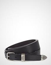 Calvin Klein J 3cm Western No Charms Belt Belte Svart CALVIN KLEIN