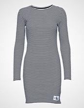 Calvin Klein Striped Rib Dress Kort Kjole Blå CALVIN KLEIN JEANS