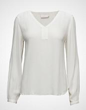 Kaffe Amber L/S Blouse- Min 2 T-shirts & Tops Long-sleeved Hvit KAFFE