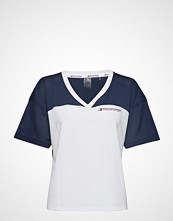 Tommy Sport Mesh T-Shirt Panel, T-shirts & Tops Short-sleeved Hvit TOMMY SPORT