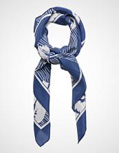 Gant D1. Fall Blues Print Silk Scarf Skjerf Blå GANT