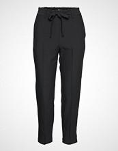 Mango Bow Straight Trousers Bukser Med Rette Ben Svart MANGO