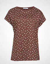 Violeta by Mango Polka Dots Cotton T-Shirt T-shirts & Tops Short-sleeved Brun VIOLETA BY MANGO