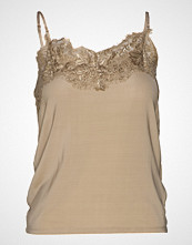 Soaked in Luxury Sl Clara Singlet T-shirts & Tops Sleeveless Beige SOAKED IN LUXURY