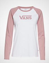 Vans Wm Flying V Classic White/Nostalgia T-shirts & Tops Long-sleeved Rosa VANS