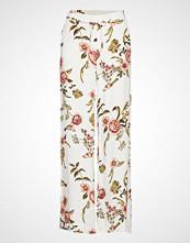 Mango Flowy Printed Trousers Vide Bukser Hvit MANGO