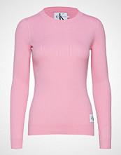 Calvin Klein Iconic Rib Sweater Strikket Genser Rosa CALVIN KLEIN JEANS