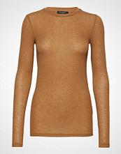 Bruuns Bazaar Angela Ls T-Shirt Strikket Genser Brun BRUUNS BAZAAR