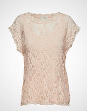 Cream Vivi Lace Blouse Bluse Kortermet Rosa CREAM