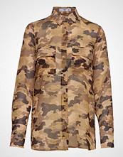 Mango Camo-Print Shirt Langermet Skjorte Brun MANGO