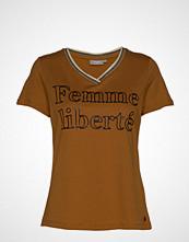Fransa Frfikam 1 T-Shirt T-shirts & Tops Short-sleeved Brun FRANSA