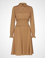 Yas Yascrispa Smock Shirt Dress Ft Knelang Kjole Beige YAS
