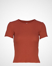 Hollister Crop Waffle Tee T-shirts & Tops Short-sleeved Oransje HOLLISTER