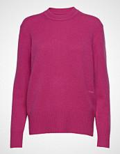 Calvin Klein Cashmere Logo C-Nk S Strikket Genser Rosa CALVIN KLEIN