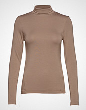 French Connection Venetia Jersey Split Cuff Top Høyhalset Pologenser Beige FRENCH CONNECTION