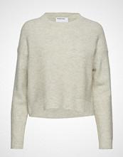 DESIGNERS, REMIX Silvia Cropped Sweater Strikket Genser Creme DESIGNERS, REMIX