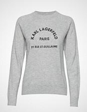 Karl Lagerfeld Address Logo Sweater Strikket Genser Grå KARL LAGERFELD
