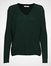 Mango V-Neckline Sweater Strikket Genser Grønn MANGO