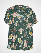 Zizzi Vviola V-Neck, S/S, Blouse T-shirts & Tops Short-sleeved Grønn ZIZZI