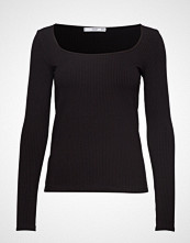 Mango Ribbed T-Shirt T-shirts & Tops Long-sleeved Svart MANGO
