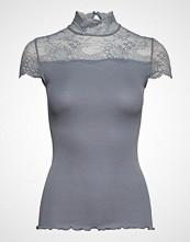 Rosemunde Silk T-Shirt Turtleneck Regular Ss Bluse Kortermet Blå ROSEMUNDE