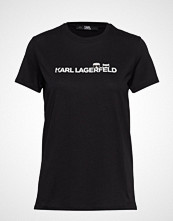 Karl Lagerfeld Ikonik & Logo T-Shirt T-shirts & Tops Short-sleeved Svart KARL LAGERFELD