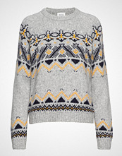 Wood Wood Asta Sweater Strikket Genser Grå WOOD WOOD