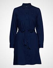 Lee Jeans Shirt Dress Knelang Kjole Blå LEE JEANS