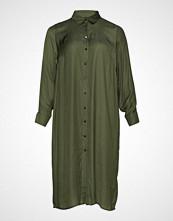 Zizzi Mfrey, L/S, Long Shirt Knelang Kjole Grønn ZIZZI