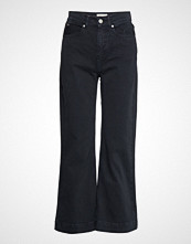 Mayla Stockholm Jane Cropped Pants Vide Bukser Blå MAYLA STOCKHOLM