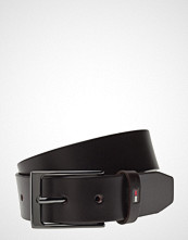 Tommy Hilfiger Layton Leather Belt Belte Svart TOMMY HILFIGER