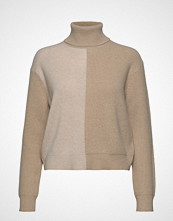 Theory Color Block Tnec.Cas Høyhalset Pologenser Beige THEORY