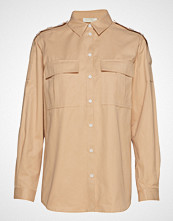 Notes du Nord Mia Shirt Langermet Skjorte Beige NOTES DU NORD