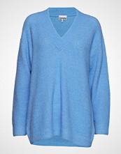 Ganni Soft Wool Knit Strikket Genser Blå GANNI