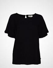Lexington Clothing Ellis Top Bluse Kortermet Svart LEXINGTON CLOTHING
