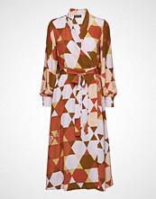 Stine Goya Micaela, 420 Hexagons Silk Knelang Kjole Beige STINE GOYA