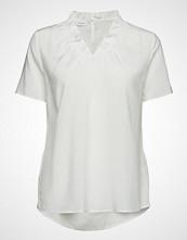 Gerry Weber Blouse Short-Sleeve Bluse Kortermet Hvit GERRY WEBER