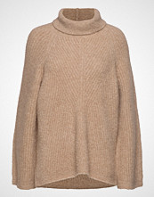 Theory Moving Rib Tneck.Cam Høyhalset Pologenser Beige THEORY