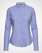 Hollister Longsleeve Classic Shirt Langermet Skjorte Blå HOLLISTER