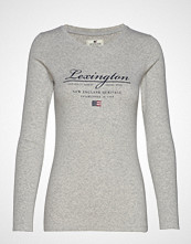 Lexington Clothing Thelma Logo Tee T-shirts & Tops Long-sleeved Grå LEXINGTON CLOTHING