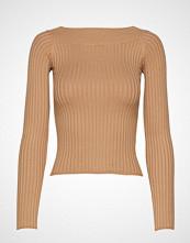 Gina Tricot Louise Knitted Off Shoulder Strikket Genser Beige GINA TRICOT