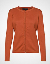 Soft Rebels Zara Cardigan O-Neck Strikkegenser Cardigan Oransje SOFT REBELS
