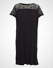 Saint Tropez U6524, Jersey Dress Below Knee Knelang Kjole Svart SAINT TROPEZ