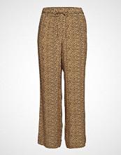Violeta by Mango Leopard Straight Trousers Vide Bukser Beige VIOLETA BY MANGO