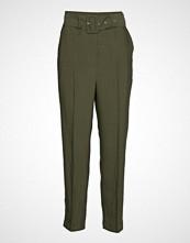 Soaked in Luxury Sl Iggy Pants Bukser Med Rette Ben Grønn SOAKED IN LUXURY