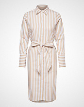 Morris Lady Chiara Striped Shirt Dress Knelang Kjole Creme MORRIS LADY