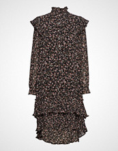 Lollys Laundry Frille Dress Knelang Kjole Brun LOLLYS LAUNDRY