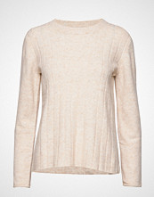 Soft Rebels Claire O-Neck Knit Strikket Genser Creme SOFT REBELS