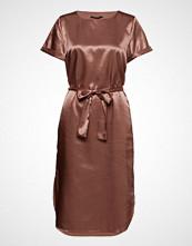 Bruuns Bazaar Vida Daria Dress Knelang Kjole Brun BRUUNS BAZAAR