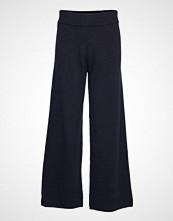 Selected Femme Slfeya Cashmere Mw Knit Pant B Vide Bukser Blå SELECTED FEMME